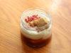 Sladká sklenička jahodový cheesecake